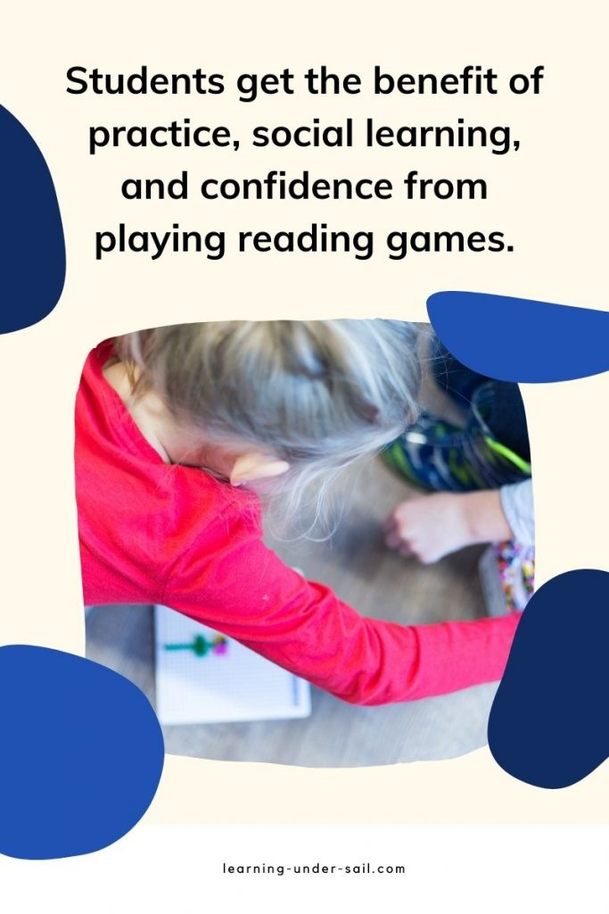 Upper Elementary Students reading intervention game